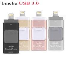BINCHU Lightning OTG USB Flash Drive 8GB 16GB 32GB 64GB 128gb For iOS and USB For PC For Tablet OTG Pendrive for iPhone U Disk