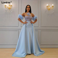 Sheath Strapless Mother of the Bride Dresses Short Sleeves Lace Mother of the Bride Dresses With Removable Train