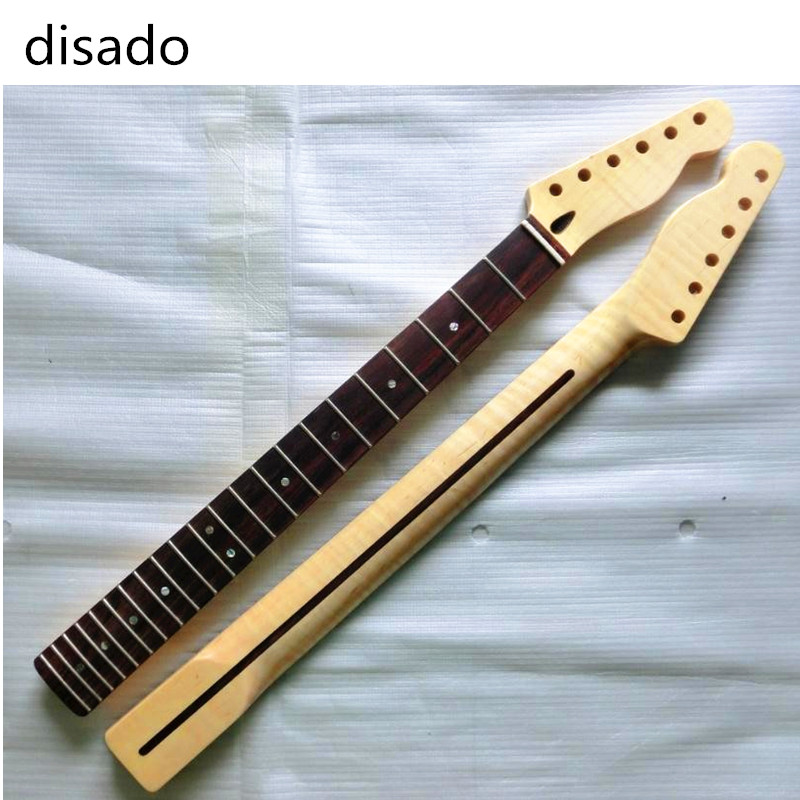 disado 22 Fret Tiger flame material maple Rosewood fingerboard Electric Guitar Neck Guitar accessorie Parts musical instruments disado 21 frets tiger flame maple wood color electric guitar neck guitar accessories guitarra musical instruments parts