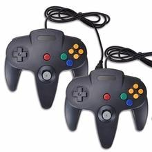 2 db / vezetékes gamepad PC-hez Nintend N64 vezérlő Mac számára N64 USB Joystick Gamepads PC-hez Kiváló minőségű