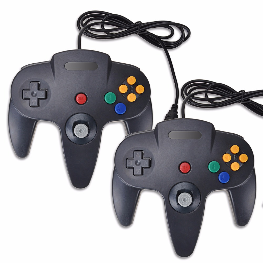 2 Pieces Set Wired font b Gamepad b font PC For Nintend N64 Controller for Mac