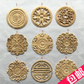 10Pcs/Lot FURNITURE ARCHITECTURAL ROUND APPLIQUES UNPAINTED MULTIPLE DESIGN