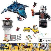 Super hero Building Blocks Airport Civil War Giant Ant Iron Man Compatible legoinglys MARVEL Figures mini Weapon Child gift