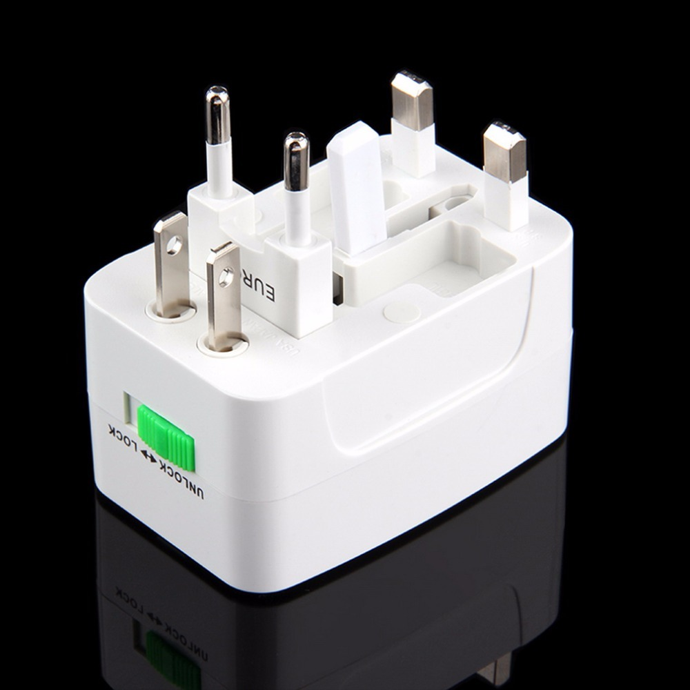 Newest Universal Adapter Plug Socket Comverter Universal All in 1 Travel Electrical Power Adapter Plug US UK AU EU promotion