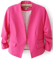 Women's Fashion Korea Candy Color Solid Slim Suit Blazer Coat Jacket WL0008