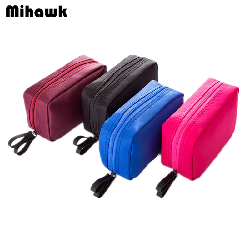 Mihawk Women's Mini Cosmetic Bag Travel Organizer Wash Makeup Cases Pouch Beauty Brushes Lipstick Storage Toiletry Accessories lady s travel wash cosmetic bags brushes lipstick makeup case pouch toiletry beauty organizer accessories supplies products
