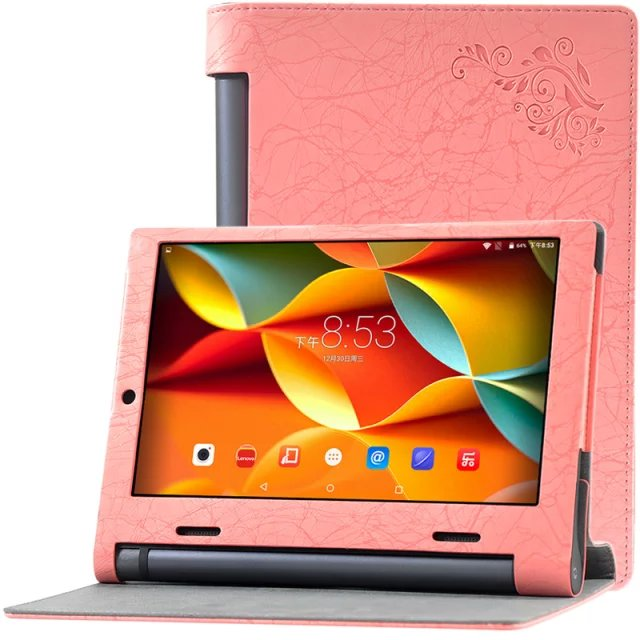 Floral Flip Cover PU Leather Case For Lenovo yoga Tab3 tab 3 10.1 X50 x50l x50f x50m x50 tablet case protective shell skin cover new original for lenovo thinkpad yoga 260 bottom base cover lower case black 00ht414 01ax900