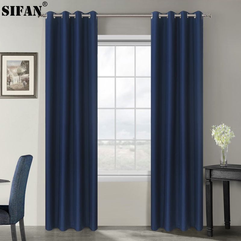 Modern Blackout Curtains For Living Room Bedroom Curtains For Window Blinds Drapes Solid Finished Curtains Custom Made