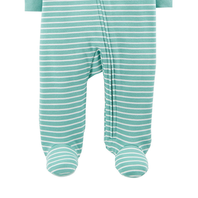 71288ae4187b7 US $20.0 |1pcs Cute Dinosaur stripes Zip Up Cotton footies Carter's baby  boy fall winter clothing 115G576-in Footies from Mother & Kids on ...