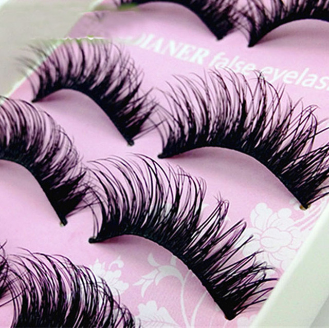 449407777f9 5 Pairs Natural Eye Lashes Makeup Handmade Thick Fake Cross False Eyelashes  Women Eye Lashes Extension Tools-in False Eyelashes from Beauty & Health on  ...