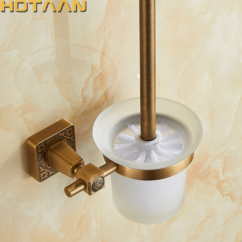 Antique Brass Color Wall Mounted Solid Aluminium Made Anti-Rust Toilet Brush Holder For Bathroom Accessories Set Bath ProductsAntique Brass Color Wall Mounted Solid Aluminium Made Anti-Rust Toilet Brush Holder For Bathroom Accessories Set Bath Products