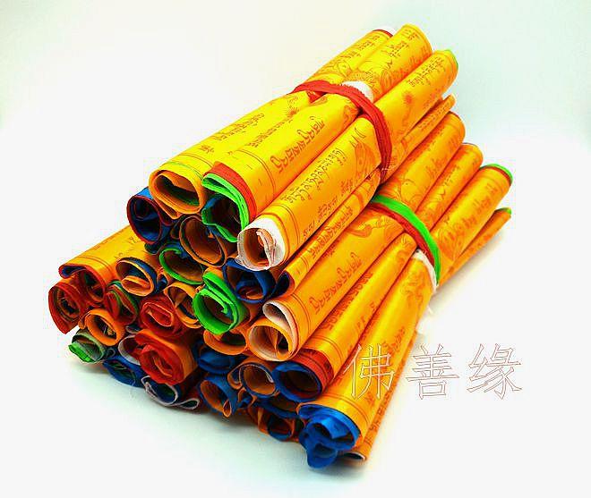 Budizam Predmet 6.8 metra 20 PCS / niz visokokvalitetna svila 5 Boja - Kućni dekor - Foto 2