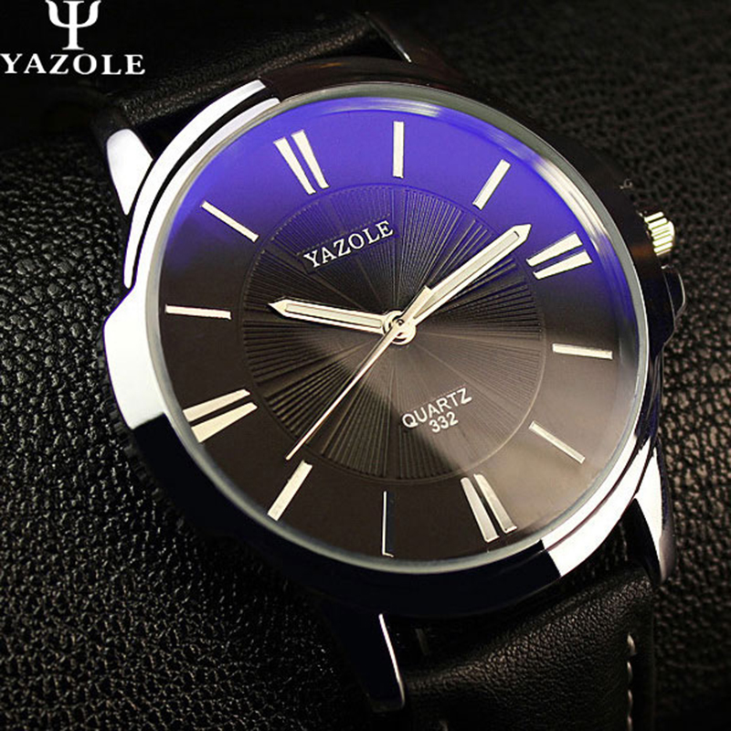 2016 YAZOLE Quartz watch Men Watch Top Luxury brand Male WristWatch leather Business Quartz watch relogio