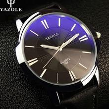 2016 YAZOLE Quartz-montre Hommes Montre Top marque De Luxe Homme Montre-Bracelet en cuir D'affaires Quartz montre relogio feminino Mâle Horloge