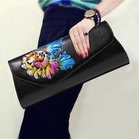 Национальный клатч кошелек модный стиль натуральная кожа топ кожаные сумки через плечо женская сумка на плечо Повседневная крышка кошелек