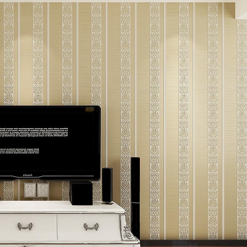 3D embossed wallpaper modern minimalist vertical stripes wallpaper bedroom study environmental non-woven wallpaper living room beibehang shop for living room bedroom mediterranean wallpaper stripes wallpaper minimalist vertical stripes flocked wallpaper