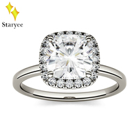 Certified 1.3CT VS DEF COLVARD COLVARD Moissanite Halo Engagement Ring For Women Jewerly 14K Solid White Gold Diamond Ring