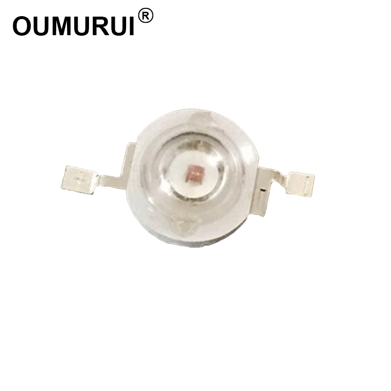 100pcs 1W LED Lamp High power LED Light chips Red 620-625nm 350mA 2.0-2.4V 30-40LM 30mil Chips Free shipping