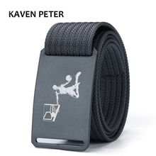 Luxury Belt Men Canvas Military Nylon Designers Casual Solid Canvsa Waist Aluminum Metal Buckle Brown Color 100To160CM
