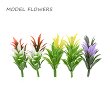 Teraysun 3CM artificial flower miniature model scale park scene grass for sand table making scenery layout