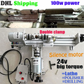 Wood Lathe Mini Lathe Machine drill 2 set/Polisher Table Saw for polishing Cutting for woodworking, DIY Fundamental,ship by DHL