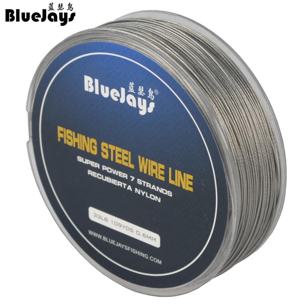 BlueJays 100M Ribiška jeklena žica Ribiške linije največja moč 7 - Ribolov