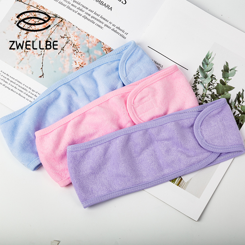 Eyelashes Extension Spa Facial Headband Make Up Wrap Head Terry Cloth Headband Stretch Towel with Magic Tape Makeup Hairband(China)