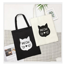 все цены на Fashion lady shoulder bag cartoon printed canvas bag large-capacity shopping handbag zipper bag онлайн