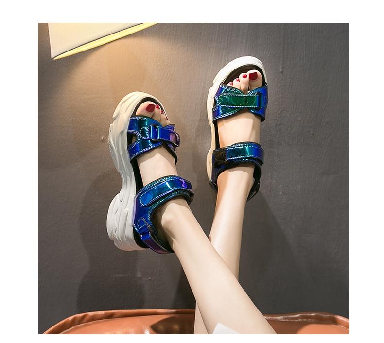 HTB1HeLtaf1H3KVjSZFBq6zSMXXa4 Women Sandals 2019 New Summer Sandals Ladies Casual Shoes Women Bling Wedges Buckle Strap Platform Shoes 5 CM Sandalias Mujer