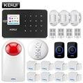 KERUI G18 домашняя сигнализация Беспроводная GSM охранная сигнализация с датчиком движения Охранная сигнализация беспроводной магнитный дверн...