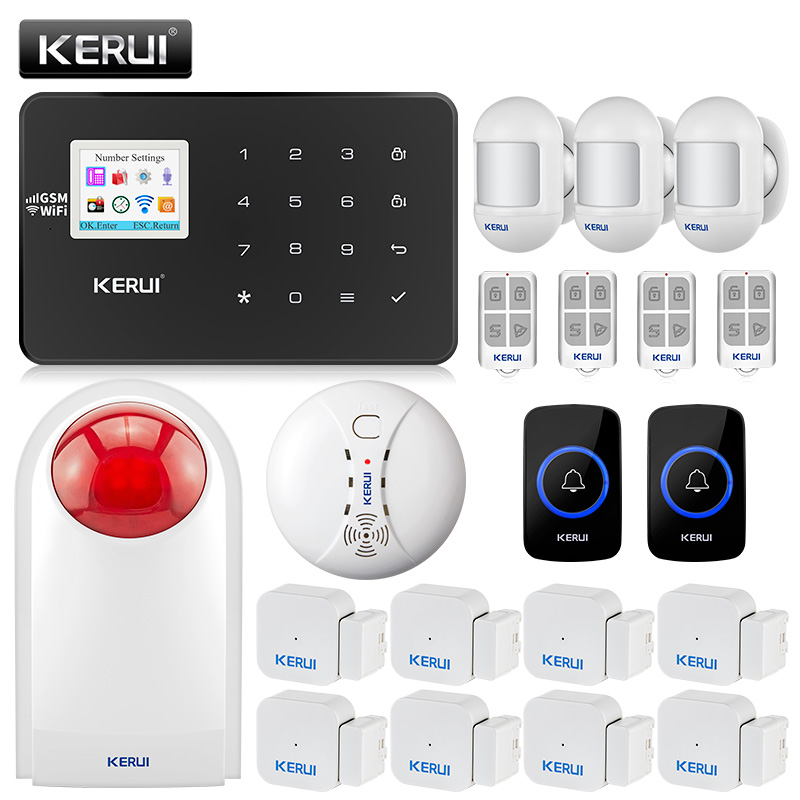 KERUI G18 Home alarm Wireless GSM Security Alarm System With Motion Detector Sensor Burglar Alarm Wireless Magnetic Door magnet