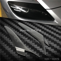 High Quality Real Carbon Fiber Decoration Headlights Eyebrows Eyelids Cover For Mazda RX 8 RX8 2005