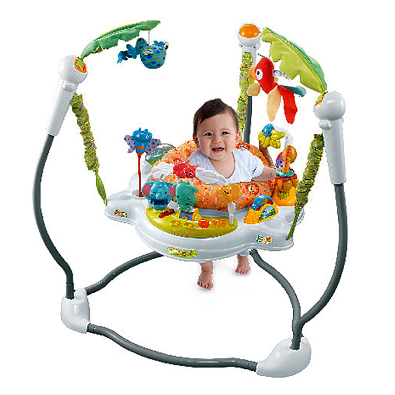 Baby Jumper Chair Infant Rocking Chair Swing Tropical Rainforest Baby Swing Chair Ring Fitness Jumpers Bouncing Chair Gym Toys ヒステリック ミニ 高 画質