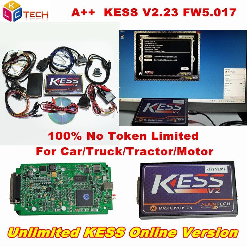 Цена за Новый KTAG V2.23 FW V7.020 K-TAG ЭБУ программирования мастер вариант K тегов V7.020 KESS 5.017 V5.017 неограниченным маркера онлайн версия