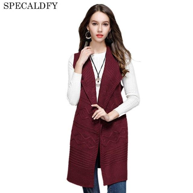 e2523ea821 2018 Autumn Winter Long Cardigan Women Knitted Vest Coat Hooded Casual  Sleeveless Veste Feme Cardigans Sweater Sashes