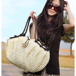 Pillow Straw Bag Bohemain Summer Beach Handbag Causal Shopping Travel Bag Large Capacity Totes Woven Women Shoulder Bag Bolsa