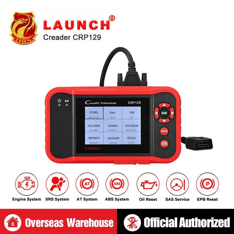 Lanzamiento de CRP129 CRP 129 Creader VIII 8 lector de código OBDII herramienta de diagnóstico ENG en ABS SRS EPB SAS servicio de aceite la luz se reinicia escáner