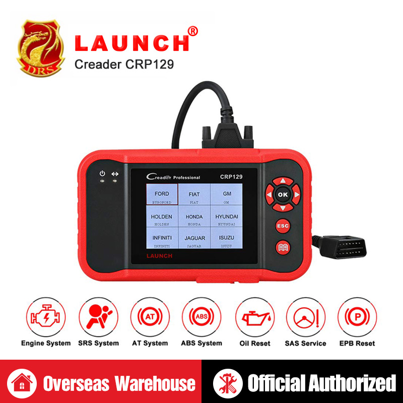 Launch CRP129 CRP 129 Creader VIII 8 Code Reader OBDII Diagnostics Tool ENG AT ABS SRS