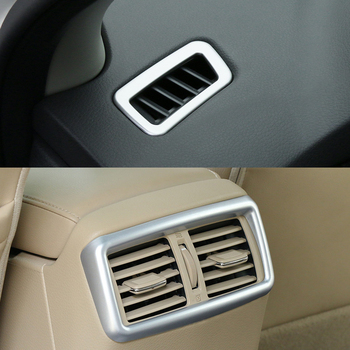 For Nissan Rogue x-Trail T32 2014 2015 2016 2017 Chrome Front Dashboard Rear Armrest Air Vent Outlet Trim Cover Molding Garnish