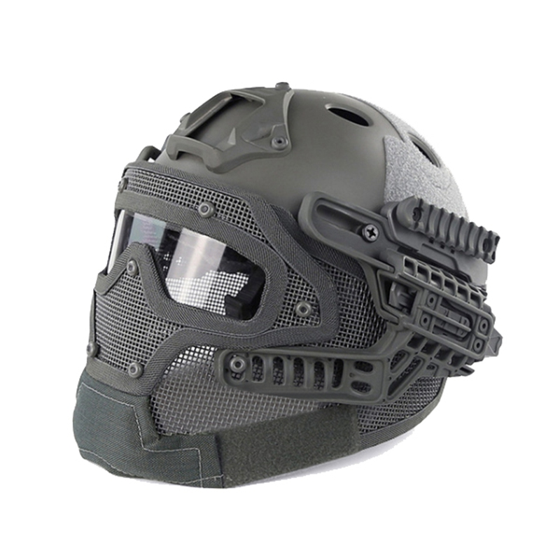 Motor Full Face Helmet Protective Casque For Motorcycle Tactical Military Training 4 Colors Engineering Materials