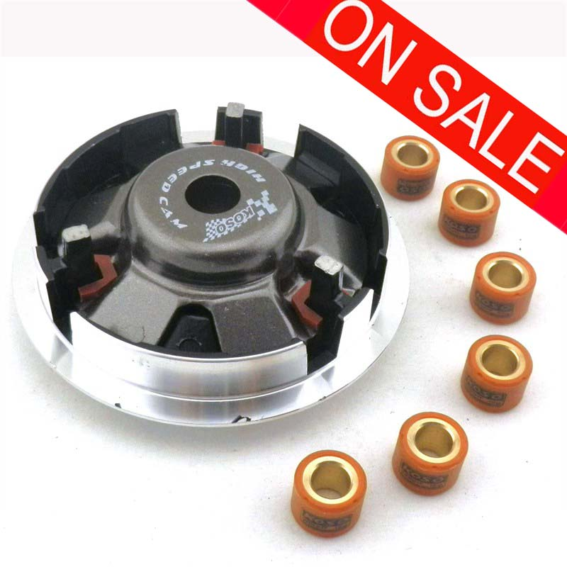 US $21 8 5% OFF Motorcycle GY6 150cc HIGH PERFORMANCE VARIATOR SET WITH  ROLLERS Weights FOR 125cc 150CC SCOOTER ATV MOPED 152QMI 157QMJ-in