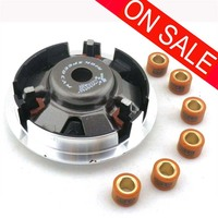 Motorcycle GY6 150cc HIGH PERFORMANCE VARIATOR SET WITH ROLLERS Weights FOR 125cc 150CC SCOOTER ATV MOPED 152QMI 157QMJ