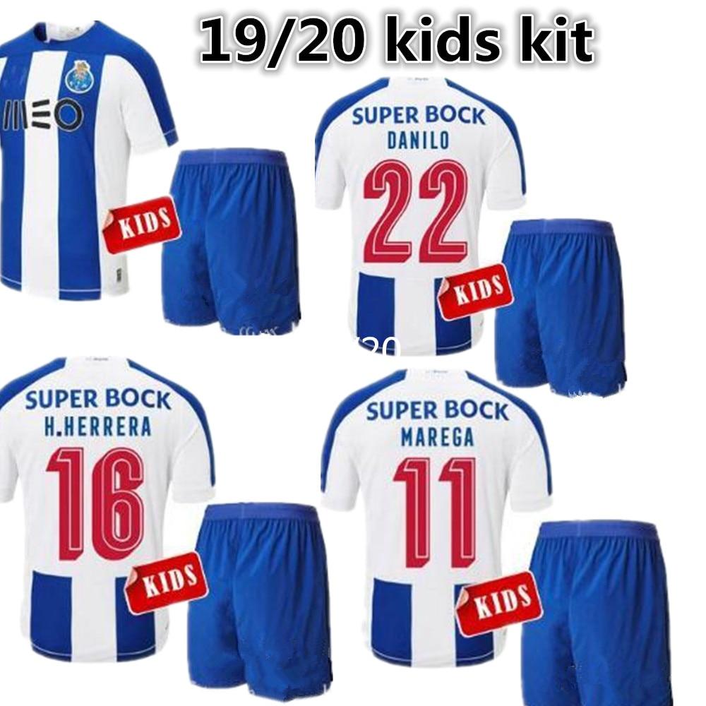 9f1351c0e7 19 20 kids kit PORTO FC SOCCER JERSEY 2019 2020 child HOME BRAHIMI  ABOUBAKAR MAREGA TELLES
