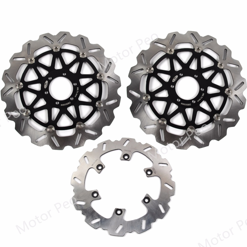 For Yamaha FZR 1000 EXUP 1990 1995 Front Rear Brake Disc Disk Rotor Kit Motorcycle FZR1000 1991 1992 1993 1994 XJR 1200 BLACK