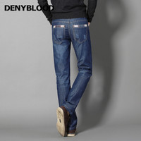 Denyblood Jeans Darked Wash Jeans Mens Blue Black Cotton Denim Straight Fit Classic Stylish Casual Pants