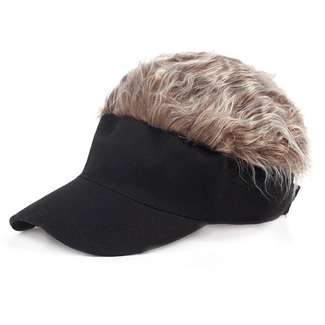 men women golf cap baseball cap outdoor sports fake flair hair sun