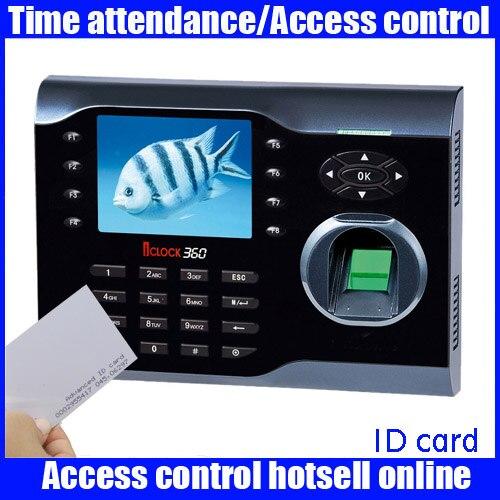 Original zk Iclock360 8000 capacité d'empreintes digitales empreinte digitale et RFID carte temps de présence enregistreur 3 pouces système linux