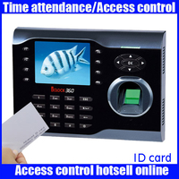 Original zk Iclock360 8000 fingerprint capacity fingerprint and RFID card time attendance time recorder 3 inch linux system
