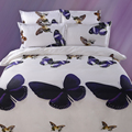 UNIHOME домашний дешевый 3D Комплект постельного белья цветок Королева двойной размер 3D/постельное белье хлопок/пододеяльник набор простыней
