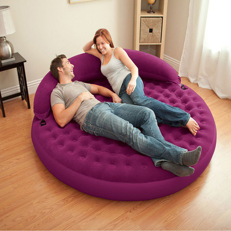 Living Room round inflatable Sofas luxury Double large inflatable sofa bed lazy sofa leisure chair size cm in Beds from Furniture on Aliexpress